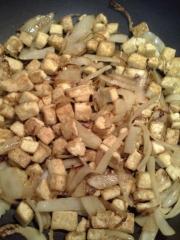 tofu & onions
