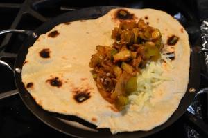 inside tortilla